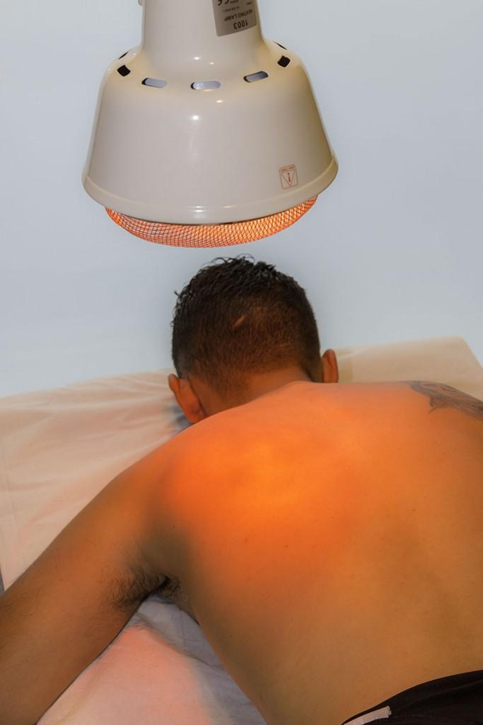 Luz infrarroja para curar lesiones