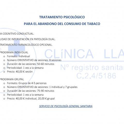 ABANDONO DEL CONSUMO DE TABACO