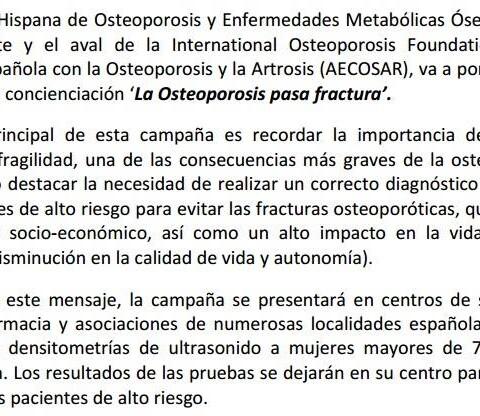 osteoporosis en Clínica Llanes
